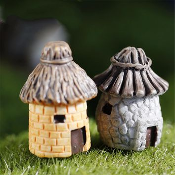 Newest 1 pcs banda House Fairy Garden Miniature Craft Micro Cottage Landscape Decoration For DIY Resin Crafts