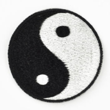Embroidered Yin Yang Patch