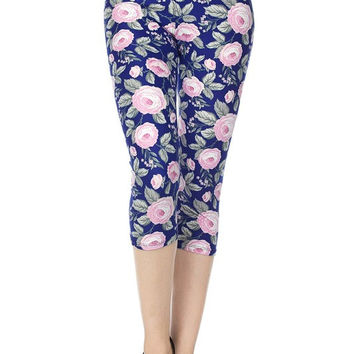 A Rose Without a Thorn Capri Leggings - Regular & Plus Size!