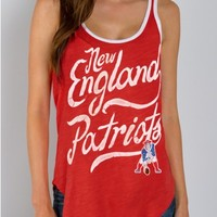 Junk Food Clothing - NFL New England Patriots Tank - NFL - Collections - Womens