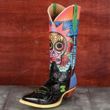 Cinch Edge Ladies' Sugar Skull Boots - Boots