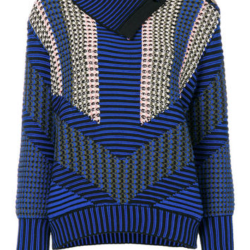 Peter Pilotto Asymmetric Patterned Sweater - Farfetch