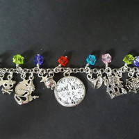 Good witch or bad witch inspired charm bracelet