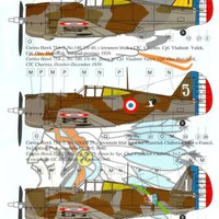 AML Models Decals 1/48 CURTISS HAWK 75 Fighter Czech Pilots Battle of France