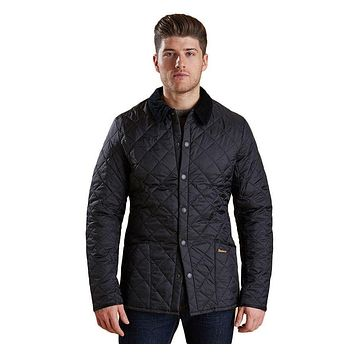 Heritage Liddesdale Quilted Jacket in Black by Barbour