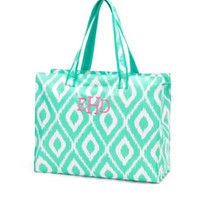SALE Monogrammed Mint Beach Bag or Tote Bag- ONLY 1 left