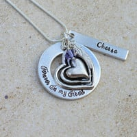 Forever in my heart Necklace-Loss of dad-loss of mom-remembrance gift-Miscarriage remembrance-Pregnancy loss necklace-Infant loss-baby loss