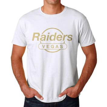 Raiders Vegas Hard Rock Logo Men's White T-shirt