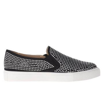 CREYONIG Wanted Shea - Black Studded Slip-On Loafer Sneaker