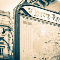 Paris Louvre Rivoli Metro Station Fine Art Photography Print