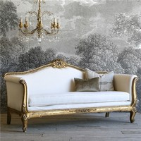 Eloquence One of a Kind Vintage Daybed Louis XV Distressed Gilt