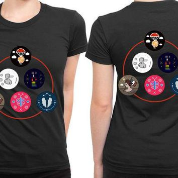 DCCKG72 Coldplay Timeline Colour 2 Sided Womens T Shirt