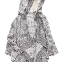 Aerie Women's Fairisle Cape (Medium Heather Grey)