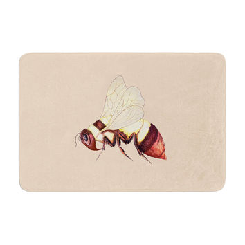 "Catherine Holcombe ""Bee Happy Beige"" Memory Foam Bath Mat"