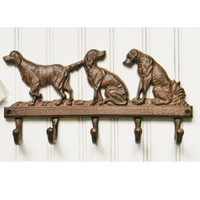 Dogs Cast Iron Wall Hook - Choose Your Color - Colorful Cast and Crew