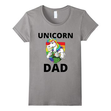 Unicorn Dad - Funny Daddy Fatherly Gym Long Sleeve T-Shirt