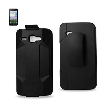 New Hybrid Holster Combo Case In Black For Alcatel One Touch Sonic Lte By Reiko