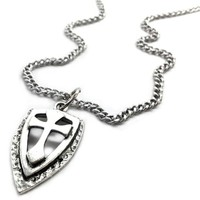 Cross Shield Necklace on Chain