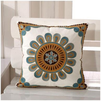 Decorative Flower Pillow For Sofa Decor Couch Cushions Emoji