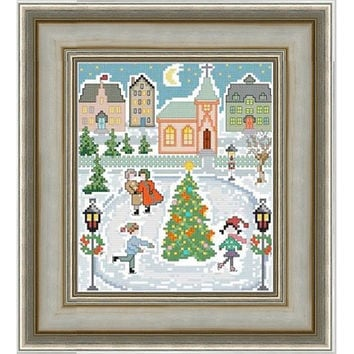 Christmas in a Village -  PDF Cross Stitch Pattern - INSTANT DOWNLOAD