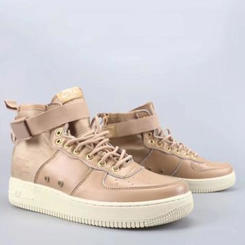 Wmns Nike Air Force 1 Sf Mid Fashion Casual High-Top Old Skool Shoes-1