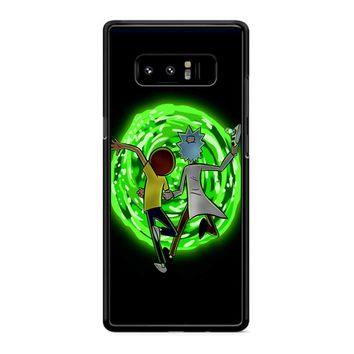Rick And Morty Portal 2 Samsung Galaxy Note 8 Case