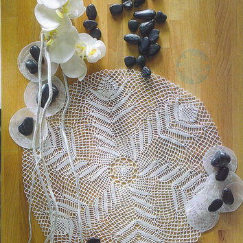 Handmade Crochet Doily, Ecru, Table Center, Cottage Chic Decor, Homedecor