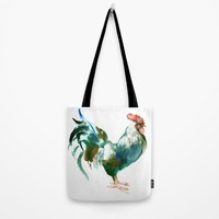 Rooster Tote Bag by SurenArt