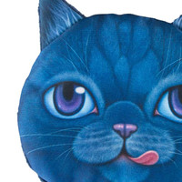 Blue Cat Face Coin Purse