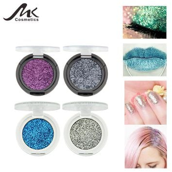 MK Makeup Set 24 Color Body Glitter Makeup Powder Diamond Gel Nail Art Glitter Decorations For EYES HAIR BODY NAIL LIPS Glitter