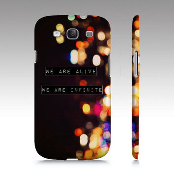 We are Infinite Perks of Being a Wallflower Samsung Galaxy S3 Case