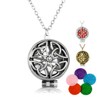 Aromatherapy Necklace Silver/Bronze Color with Unique Shaped Essential Oils Diffuser Necklace for Women Christmas Gift