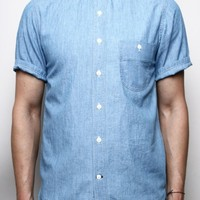 JUMPER SHIRT SHORT SLEEVE // WASHED OUT CHAMBRAY