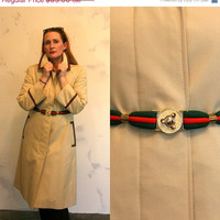 25% off entire store- Vintage 60s trench coat/ Gucci like/ Womens Medium Large