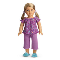American Girl® Clothing: Purple Peacock PJ's for Dolls