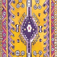 Amethyst Traditional Magic Carpet Yoga Mat