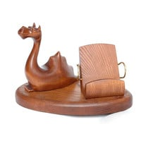 """New Wooden Phone Stand """"DRAGON"""". IPhone 6/5/4S/4/3GS Wood Table Stand. Handcrafted Natural Ash-Tree"""