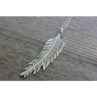 Circle & Square | Honor Feather Necklace