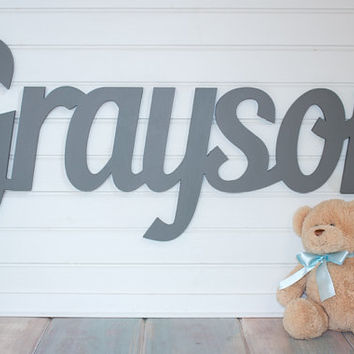 Extra Large Wooden Name Sign 11 12 Letters Baby Plaque Painted Nursery