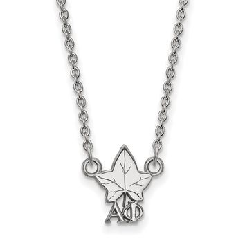 Sterling Silver Alpha Phi XS Necklace
