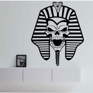 Pharaoh Sugar Skull Wall Decal Sticker Art Decor Bedroom Design Mural egyptian god