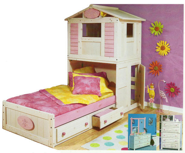 For Girls Only Secret Clubhouse Bed