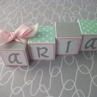 Wooden Name Blocks, Baby Name Blocks, Baby Girl, Newborn, Nursery, Baby Gift, Baby, Baby Shower, Newborn Picture, Name Blocks, Blocks,