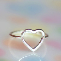 925 sterling silver Purity of heart ring
