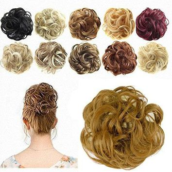 Ponytail Extensions Hair Extensions Wavy Curly Messy Hair Bun Extensions Scrunchy Scrunchie Hair Bun Updo Hairpiece Donut Hair