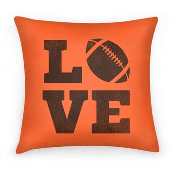 Love Football Pillow
