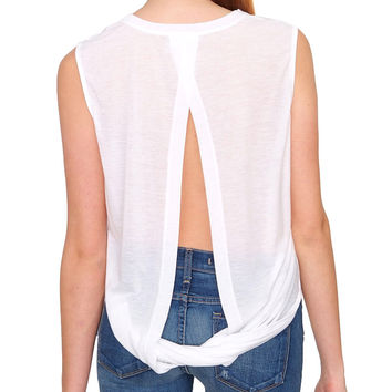 Not So Basic Sleeveless Top - White