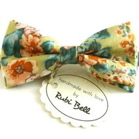 Bow Tie - floral bow tie - wedding bow tie - bow tie with flower pattern - man bow tie - men bow tie - gifts for him