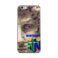 Nintendo 64 Apollo Statue Vaporwave iPhone 4 4s 5 5s 5C 6 6s 6 Plus 6s Plus 7 & 7 Plus Case