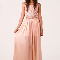 Blushing Peach Maxi Dress